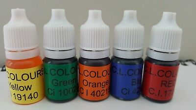 Soap dye 5x5ml soap colour perfect for melt and pour ,shower gels and bath bomb
