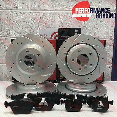 FOR BMW E46 330ci 330i 330d 330Cd FRONT REAR PERFORMANCE BRAKE DISCS BREMBO PADS