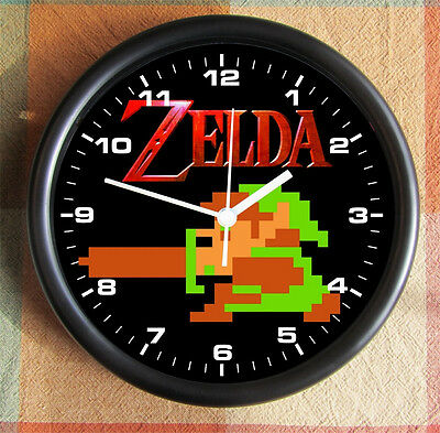 The LEGEND of ZELDA 8 Bit 8 Byte Link Nintendo Video 10 inch Resin Wall Clock