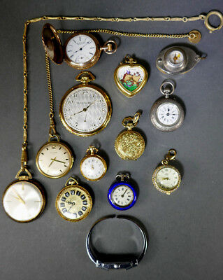 Estate Find Lot Small Pocket Watches As Is As Found Condition Untested
