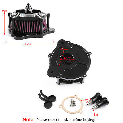 Air Intake Filter Turbine Cleaner For Harley Touring Street Electra Road Glide