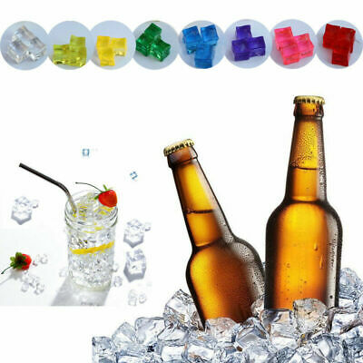 Artificial Acrylic Ice Cubes Fake Plastic Crystal Display Photography Props Lot