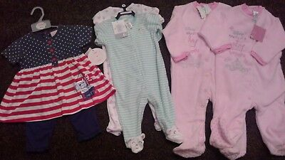 Bundle of baby girls clothes size 6-12 months Bnwt