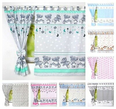 Children Bedroom Window Curtains / DECORATION WITH BOWS