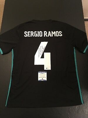 7721858fe Sergio Ramos Real Madrid Autographed XL Jersey BAS Beckett Certified (JSA  PSA)