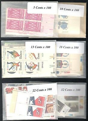 US Postage Below Face, $100 Face Value for only 69.95, FREE SHIPPING, Lot G5055