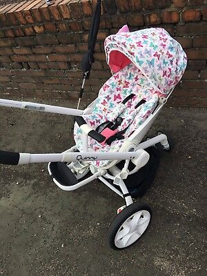 Quinny Moodd Pram Pushchair Buggy Pink Cerise Customised Butterfly Collection