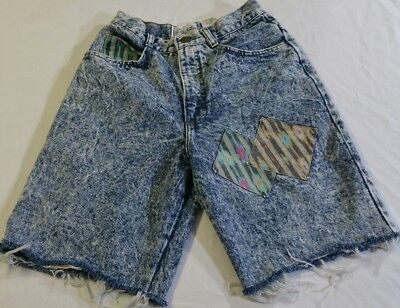 BEVERLY HILLS DENIM CO. Vtg 80s 90s Acid Washed Cutoff Women's Shorts 9/10 USA