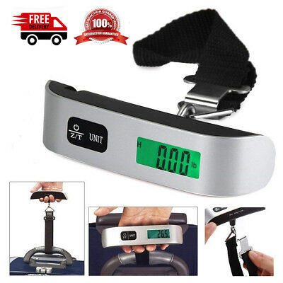 50kg/110lb Digital Electronic Luggage Scale Portable Suitcase Travel Bag Weight