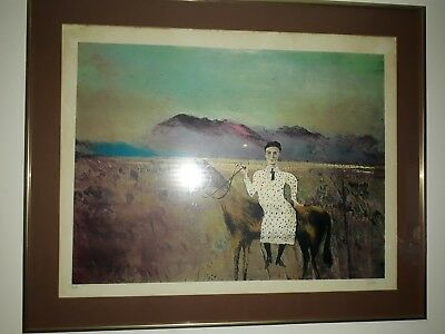 "Sir Sidney Nolan Lithograph ""Steve Hart Dressed as a Girl"""