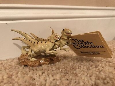 1990 Carnegie Collection By Safari Ltd Deinonychus Pack, With Tag!