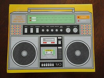 Rad Retro Boom Box Notebook Journal Chronicle Books 2012 NEW 128 Pages