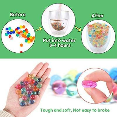 Water Beads 50000 Clear Non Toxic Rainbow Mix Jelly Water Growing Balls Sensory