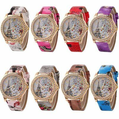 Drop Ship New Vintage Paris Tower Women's Quartz Watch Ladies Girls Wristwatch