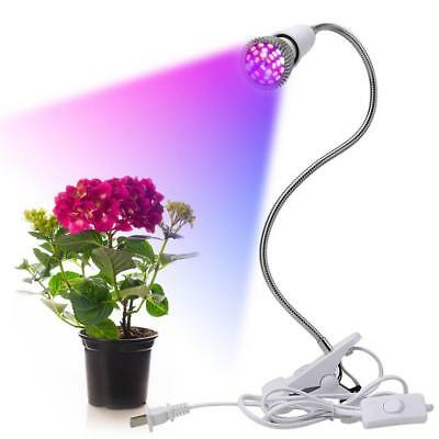28W Greenhouse Indoor Plant LED Bulb Light Succulent Grow Desk Lamp With Clip ZH