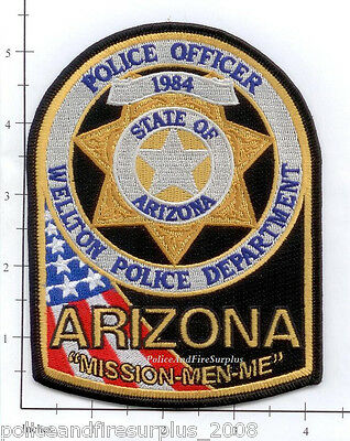 Arizona - Welton AZ Police Dept Patch