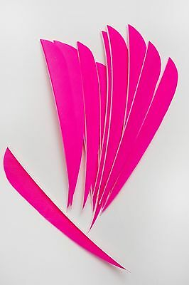 12 Real Turkey Feather Fletching 4in Parabolic