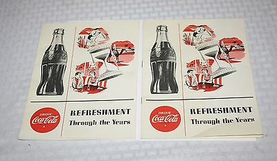 Set Of 2 Coca Cola Advertising Booklets Refreshment Through The Years