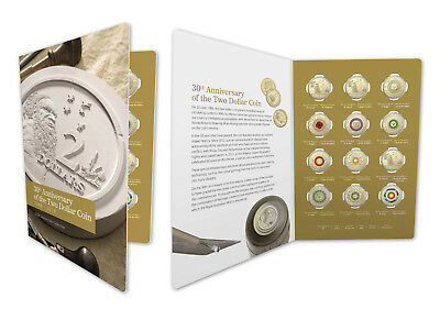 2018 $2 30th Anniversary of the $2 coin Twelve Coin Coloured Uncirculated Set
