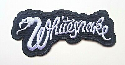 Whitesnake logo Iron on Sew Embroidered Patch Badge Rock heavy metal Coverdale