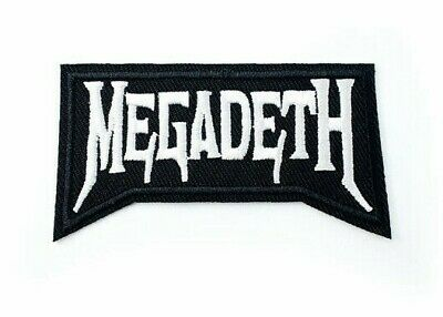 Megadeth Iron on Sew Embroidered Patch Badge rock band Heavy Metal Dave Mustaine