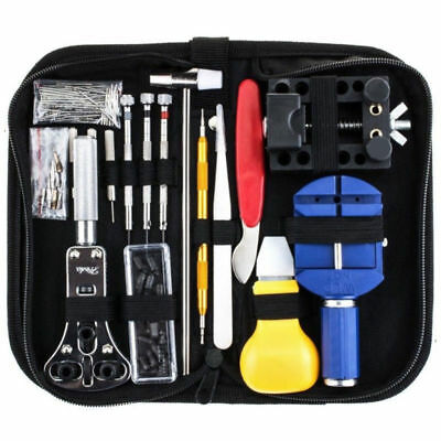 147Pcs Watch Repair Tool Kit Watchmaker Back Case Opener Remover Watch Accessory