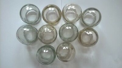 10 old vintage Soviet Russia USSR medical fire glass cupping massage set