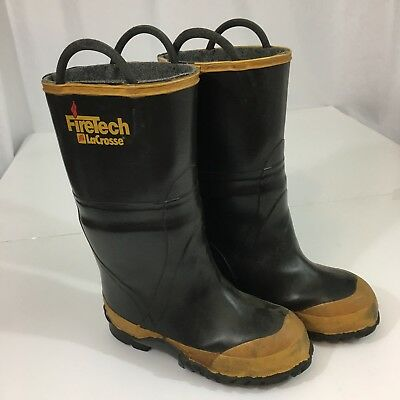 Firetech LaCrosse Size 5 Turnout Rubber Boots For Structural Fires