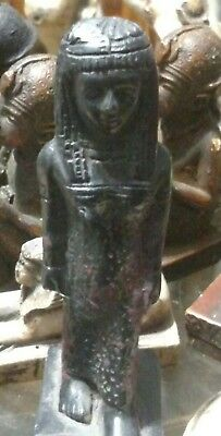 Egyptian Statue, Queen Cleopatra, 100 mm, Natural Carved Stone,  See all Scan