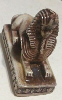Egyptian Statue, Sphinx 70 mm, Natural Carved Stone