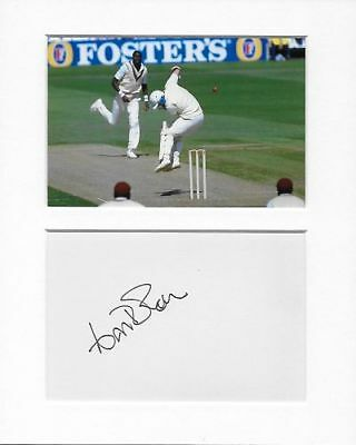 Curtly Ambrose cricket genuine authentic signed autograph signature AFTAL COA