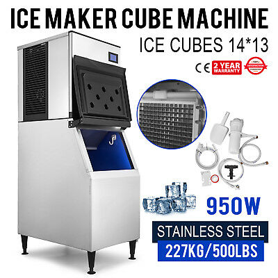 500 Lbs/24H Commercial Ice Maker Machine Stainless Steel 226Kg Digital Control