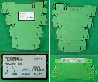 New Phoenix Contact 2961105 24 VDC Solid State Relay AgSnO 008-25L Germany