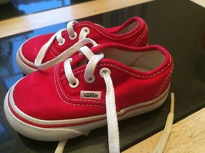 3e65a478e8f9f9 BABY VANS RED Toddler Trainers Skate Kids Infants Boy Girls Shoes US ...