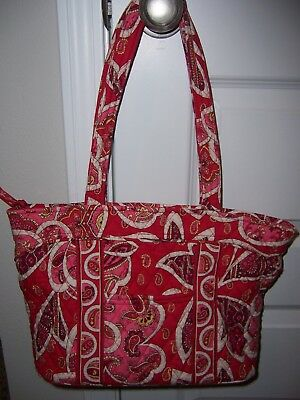 8f27436ac9 Vera Bradley Tote Bag Purse Rosie Posy Go Round Tote Medium Used very little