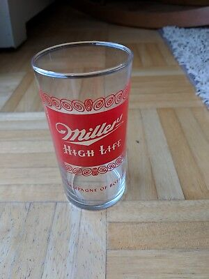 Vintage Miller Beer-The Champagne Of Bottle Beer Glass-Excellent Condition