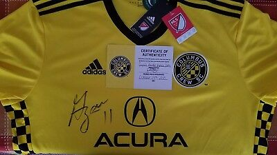 new products c09db fa3f8 COLUMBUS CREW SC Gyasi Zardes Autographed Jersey Certificate Of Authenticity