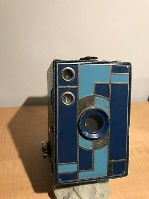 kodak beau brownie nº2A Azul art deco