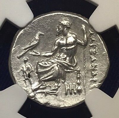NGC Ch AU 5/5-3/5 Alexander III (the Great) Lifetime Issue Drachm, NGC Ancients