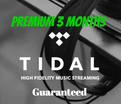 Tidal Music Premium Family Plan Account |3 MONTHS| 5 USERS | Fast DELIVERY