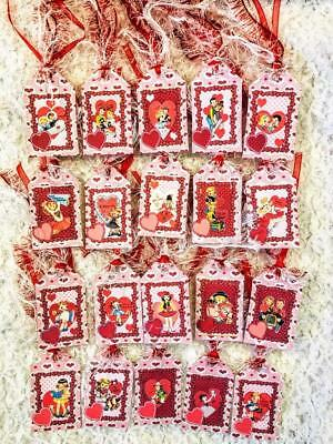 Set of 20 Mini Hang Tags~Valentine Vintage Kids~Gift Tags~Scrapbook~Card's~#300R