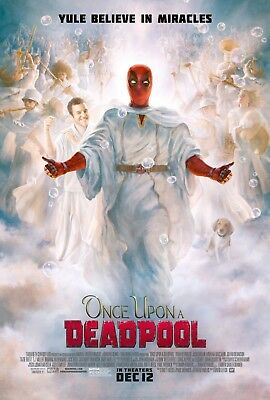 Once Upon A Deadpool Movie Poster (24x36) - Ryan Reynolds, Fred Savage v2