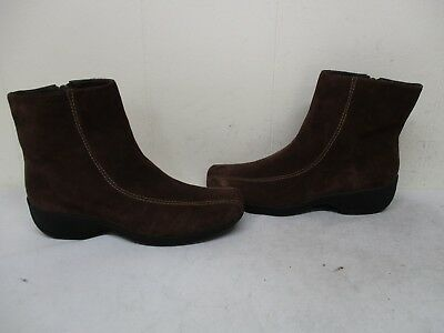 807b0d2466d CLARKS ASHYLYN Brown Suede Leather Zip Ankle Boots Women Size 7.5 M Style  75172