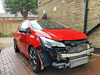 Vauxhall Corsa E VXR 2016 Damaged Repairable With Most Parts To Repair