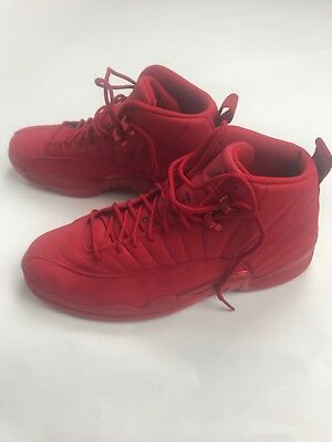 more photos a29ef 34880 AIR JORDAN RETRO 12 XII Mens Gym Red Bulls Toro Red/Black 130690-601 New  Sz11.5