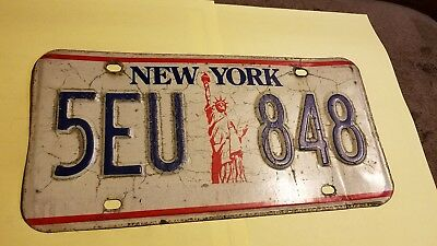 "New York ""Statue of Liberty"" License Plate vintage USA 5 EU 848"