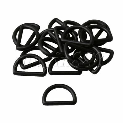 20pcs 2cm Inner Dia Plastic D Ring Buckles for Backpack Repairing Parts