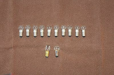 10 New C6 longshank 15V/5W replacement bulbs Noma bubble lights/Matchless star