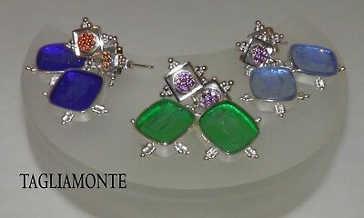 TAGLIAMONTE*Post Dangle Earrings*RhP+YGP925*CUPID&PSYCHE V.Intaglio+Gems*CHOICE