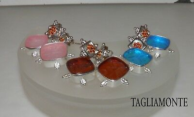 TAGLIAMONTE*Post Dangle Earrings*RhP+YGP925*CALLIOPE V.Intaglio+Garnet*CHOICE